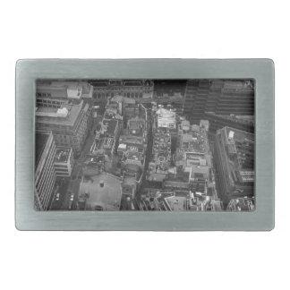 Bird's Eye view of London, UK Rectangular Belt Buckles