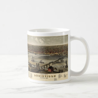 Bird's eye view of Louisville, Kentucky (1876) Coffee Mug