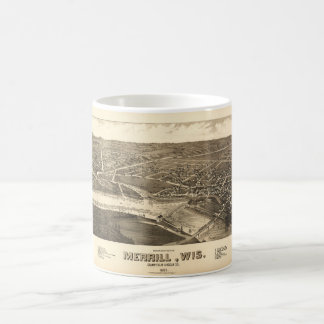 Bird's Eye View of Merrill Wisconsin (1883) Coffee Mug