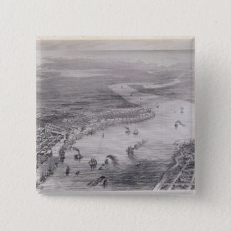 Bird's-Eye View of New Orleans 15 Cm Square Badge