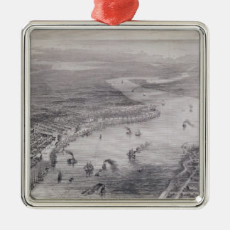 Bird's-Eye View of New Orleans Christmas Ornament