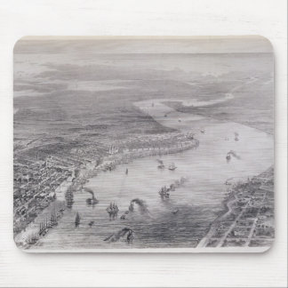 Bird's-Eye View of New Orleans Mouse Mat