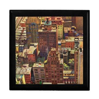 Bird's-Eye View of New York City by John Falter Gift Box
