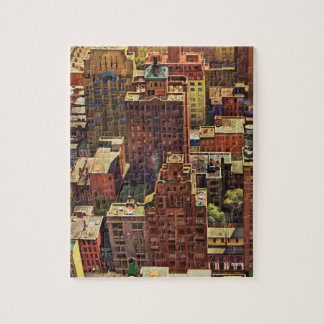 Bird's-Eye View of New York City by John Falter Jigsaw Puzzle