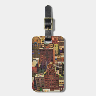 Bird's-Eye View of New York City by John Falter Luggage Tag