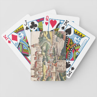 Bird's Eye View of Prague from the Nuremberg Chron Bicycle Playing Cards