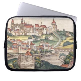 Bird's Eye View of Prague from the Nuremberg Chron Laptop Sleeve