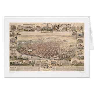 Bird's eye view of Sacramento, Calif. (1293) Card