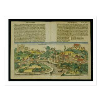 Bird's Eye View of Salzburg from the Nuremberg Chr Postcard