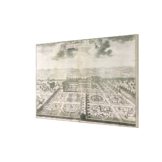 Bird's Eye View of the Gardens Kensington Canvas Print
