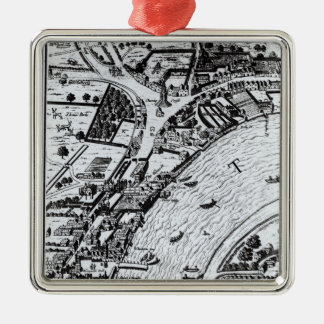 Bird's eye view of the River Thames Christmas Ornament