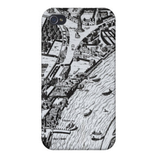 Bird's eye view of the River Thames iPhone 4 Cases