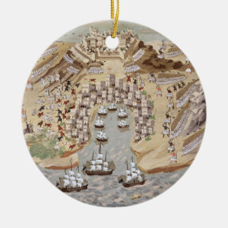 Bird's-Eye View of western Greece centred on Vonit Christmas Ornament