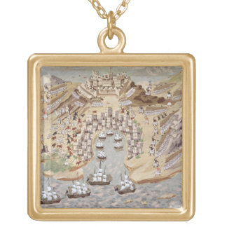 Bird's-Eye View of western Greece centred on Vonit Gold Plated Necklace