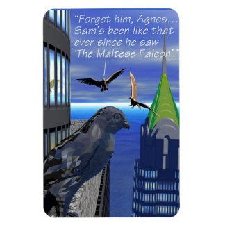 Birds - Falcons - Maltese Falcon Vinyl Magnet