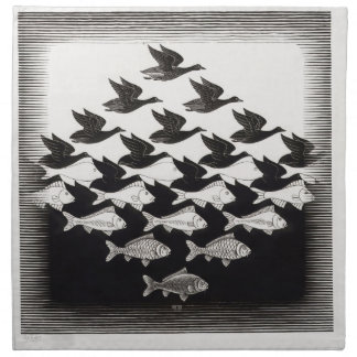 birds fish cloth napkin