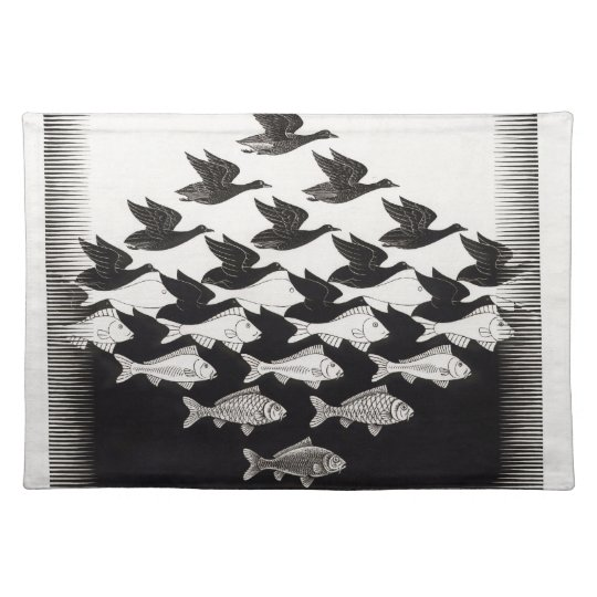 birds fish place mats