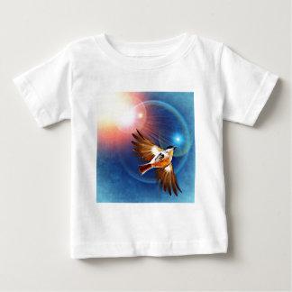 Birds flight in rays of light baby T-Shirt