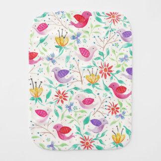Birds & Flowers Burp Cloth