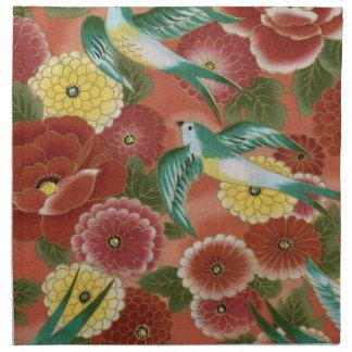 Birds & Flowers Printed Napkin
