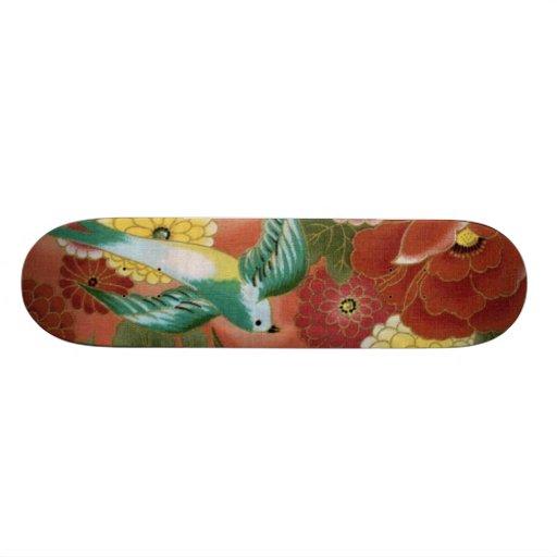 Birds & Flowers Skate Board
