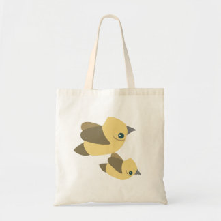 Birds fly budget tote bag