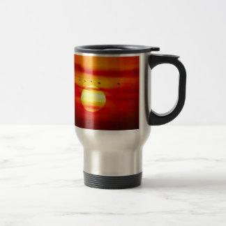 Birds Fly On Sky With Sunset Savanna Coffee Mugs