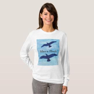 Birds Flying Blue Sky T-Shirt
