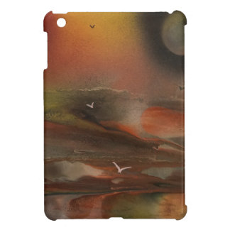 Birds flying over an alien ocean iPad mini cover