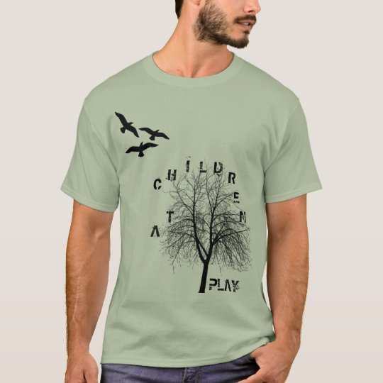 birds-flying-silhouette-clip-art, tree, C, H, I... T-Shirt