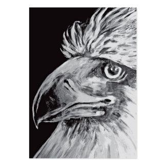 Birds Head and Beak, Black & White Business Cards