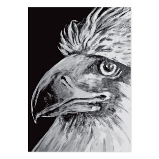 Birds Head and Beak, Black & White Pack Of Chubby Business Cards