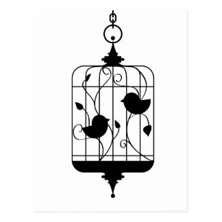 Birds in a Cage Postcards
