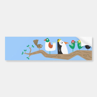 Birds in a Tree Bumper Sticker