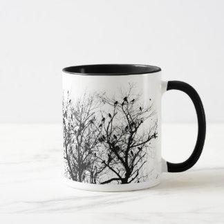 Birds in a tree mug