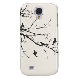 Birds in Black and White Galaxy S4 Case