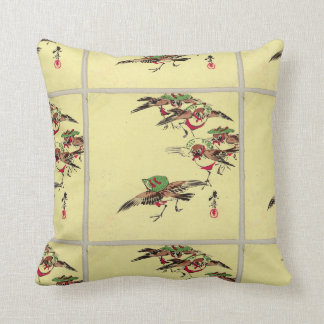 Birds in Festival Throw Cushion