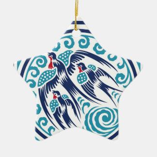 Birds in Flight Ceramic Star Decoration