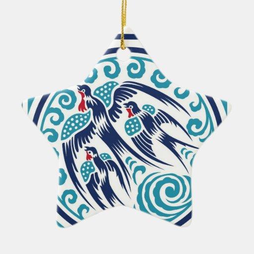 Birds in Flight Christmas Ornament