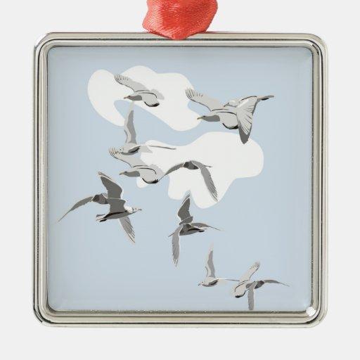 Birds in Flight Ornament