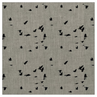 Birds in Flight Linen Fabric