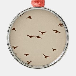 Birds In Flight vintage sepia Christmas Ornament