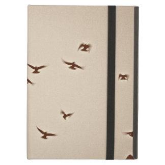 Birds In Flight vintage sepia iPad Folio Case