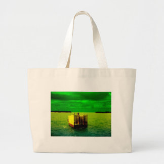 Birds in Key West set to a Green Backdrop Jumbo Tote Bag