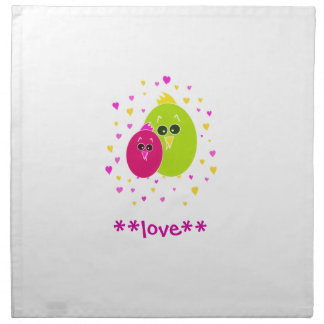 Birds in Love Napkin