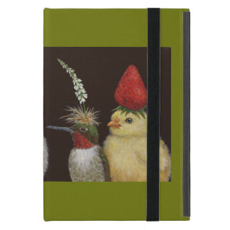 birds in party hats iPad mini case