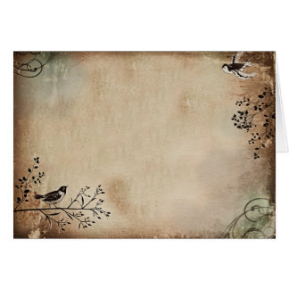 Birds in Sepia Card