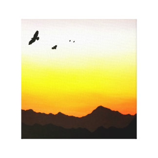 Birds in the Sunset Canvas Print