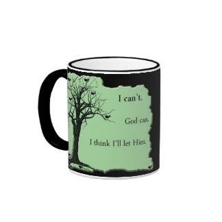 Birds in Tree - Mint Green - Cup Ringer Mug
