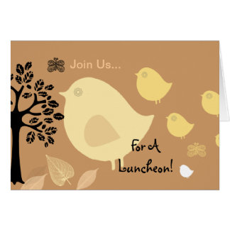 Birds Join Us Greeting Card